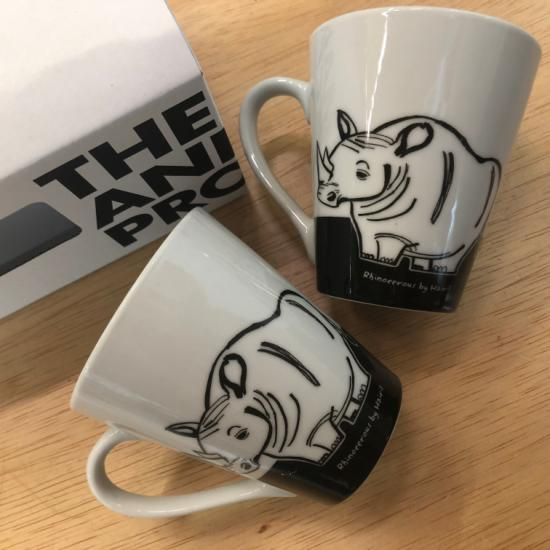 V-Mug (Set of 2) - Rhinoceros by Hairil