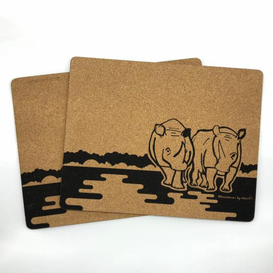 Placemats (Set of 2) Rhinoceros by Hairil