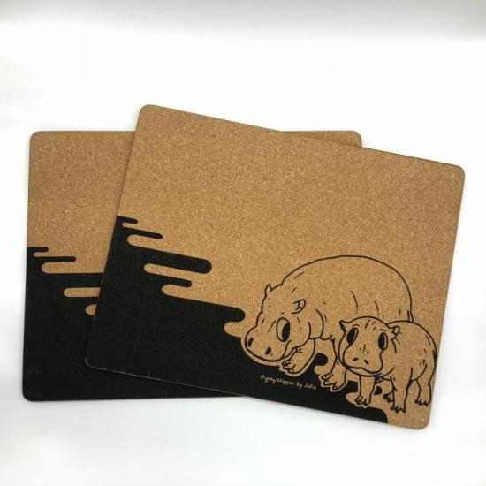 Placemats (Set of 2) Pigmy Hippos by Jolie