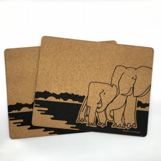 Placemats (Set of 2) Elephants by Keegan