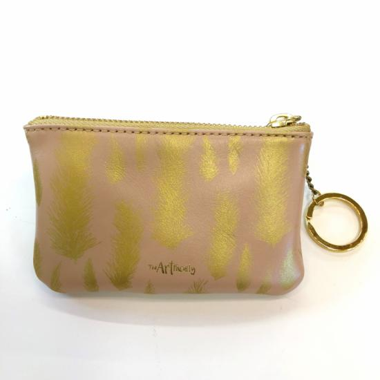 Mini Zip Pouch- Feather (Assorted Colours)