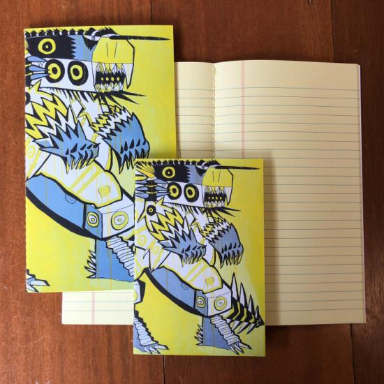 Retro Pocket Book (Tall) - Monster Robot
