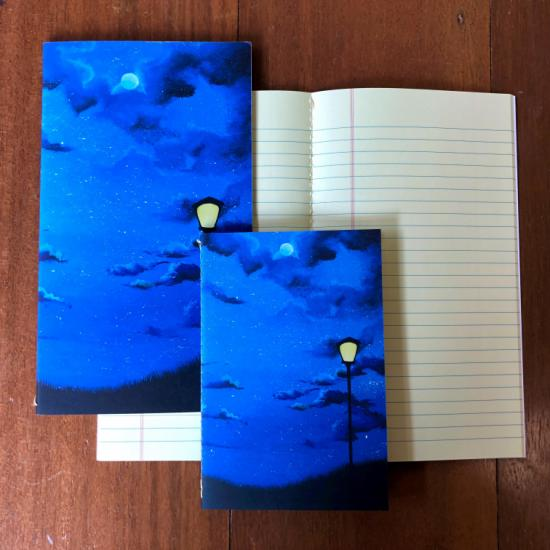 Retro Pocket Book (Short) - Lamp and Night Sky