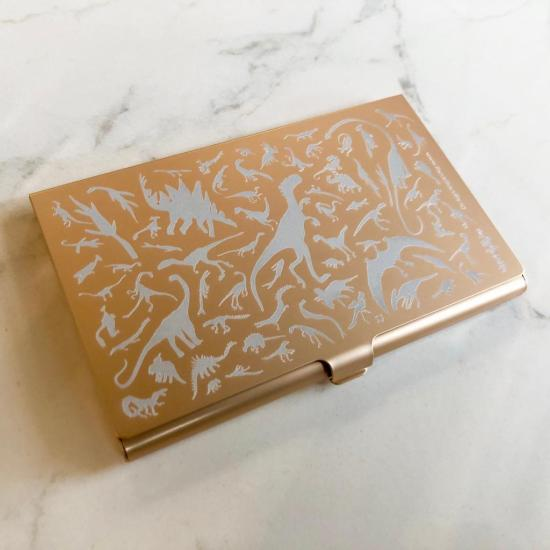 Dino Card Case - Champagne