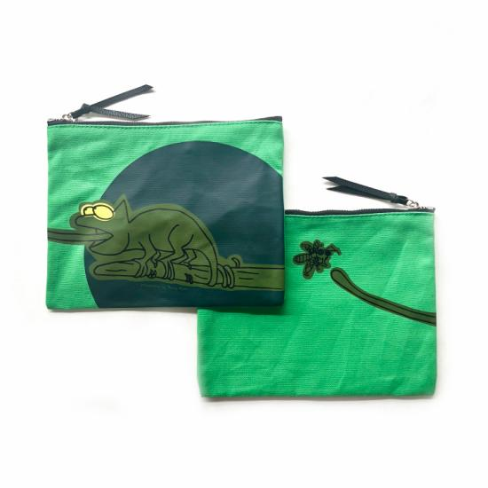 Chameleon Pouch – Green Canvas