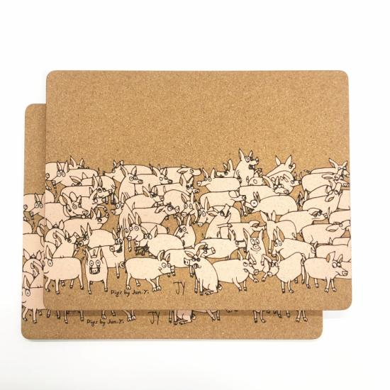Placemats (Set of 2) - Pigs
