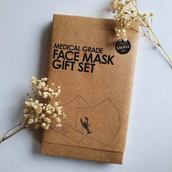 Face Mask Set of 2 - Red Lobster & Paper Planes (Small)