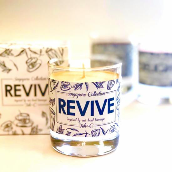 REVIVE - Scented Candle inspired by Teh-C (150ml Glass Vessel; 40hrs)