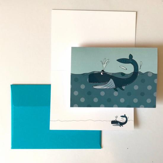 Greeting Card - Blue Whale