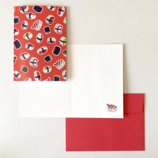 Greeting Card - Crimson Sushi