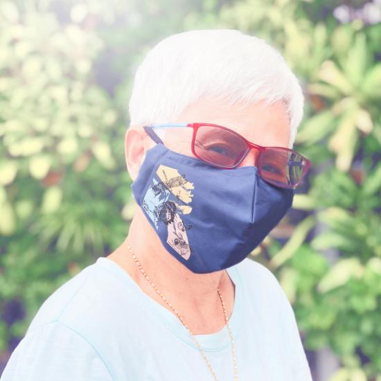 Face Mask - Insects (Regular)(Slate Blue)