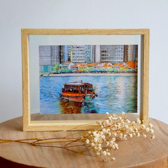 A5 Floating Frame - Singapore River