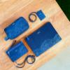 Leather Cardholder/ID Lanyard (Navy) - Paper Boats