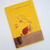 A5 Merlion Fabric Notebook (Yellow)
