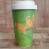 Sustainable Bamboo Fibre Go Cup 400ml - Sun Conures