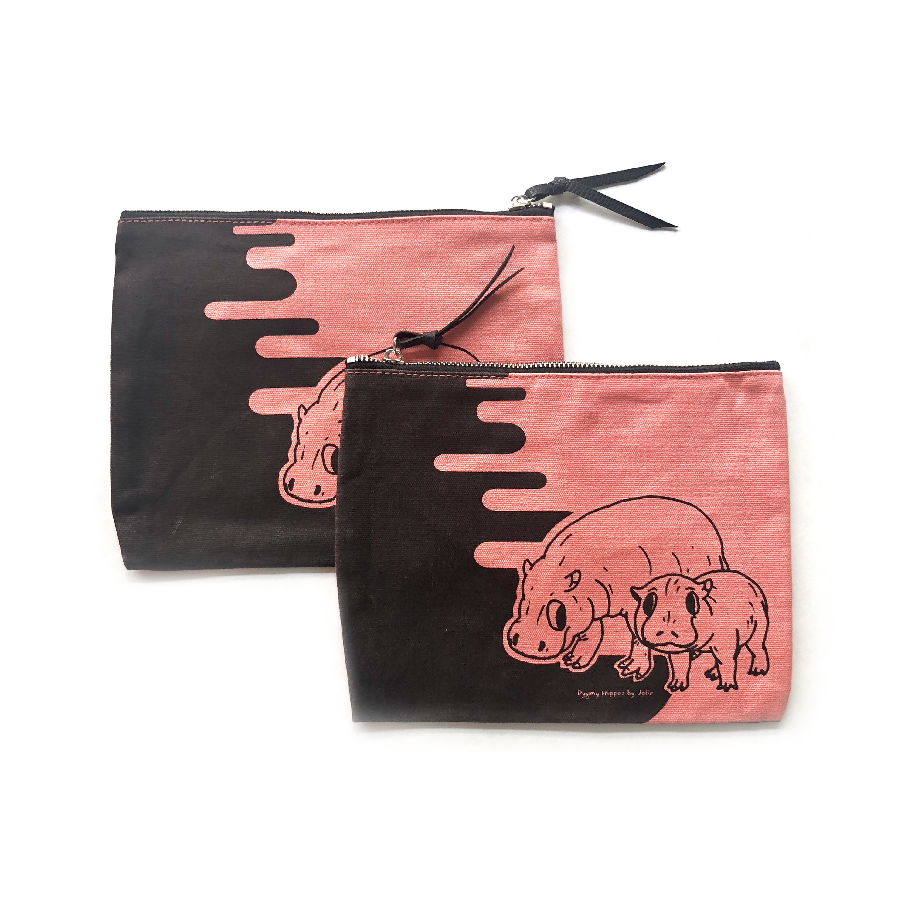Pygmy Hippos Pouch – Coral Canvas