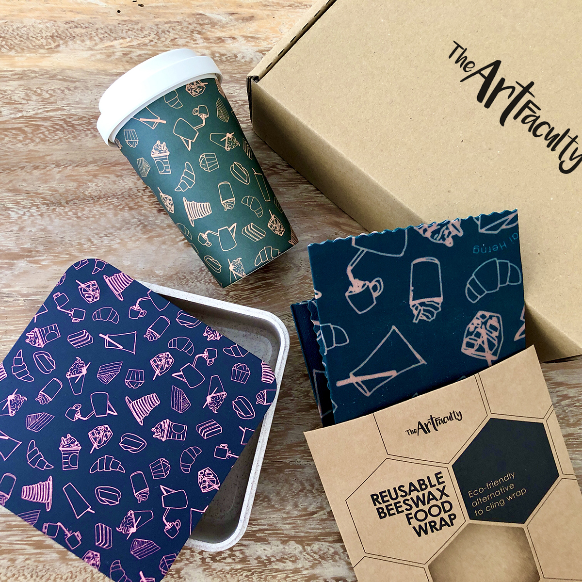 Bundle - Eco Box (Café Motif)