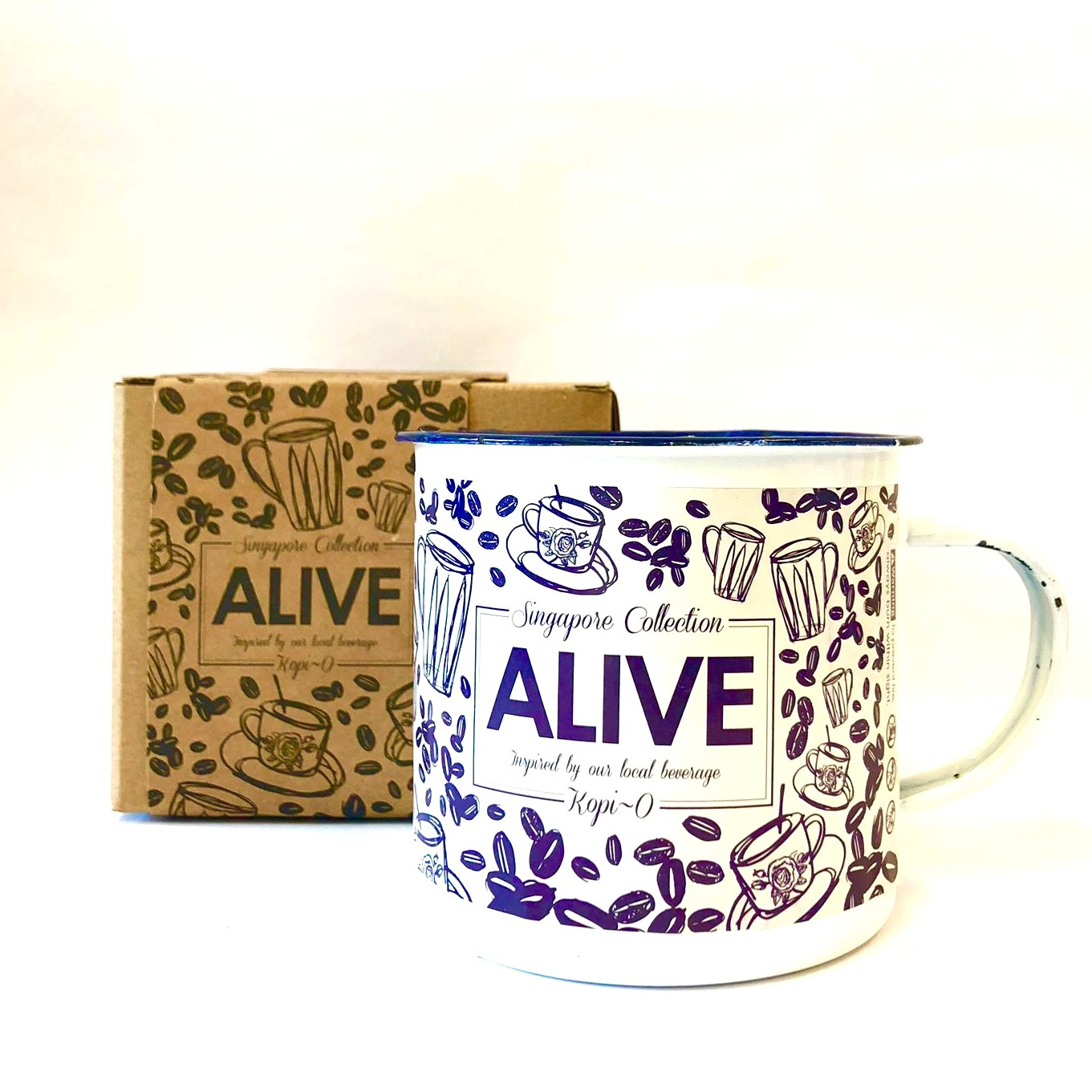 ALIVE - Scented Candle inspired by Kopi-O (350ml Enamel Mug; 90hrs)