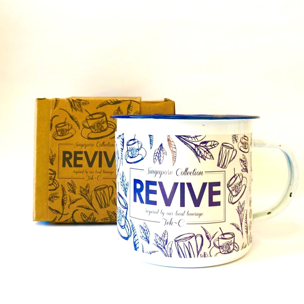 REVIVE - Scented Candle inspired by Teh-C(350ml Enamel Mug; 90hrs)